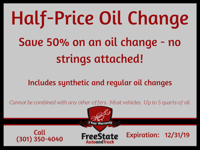 Half-Price Oil Change